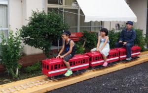 乗用ミニ鉄道が開通しました。宿泊者の皆様は無料でお乗りいただけます。